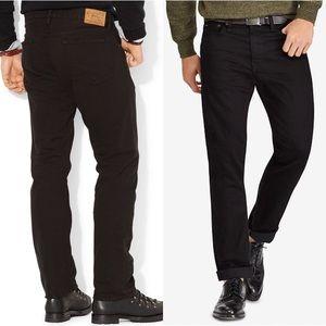 Polo Ralph Lauren Hampton Straight-Fit Black Jeans